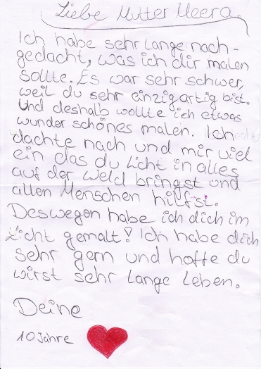 childs letter to mother